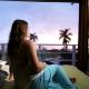 Woman on Tropical Island